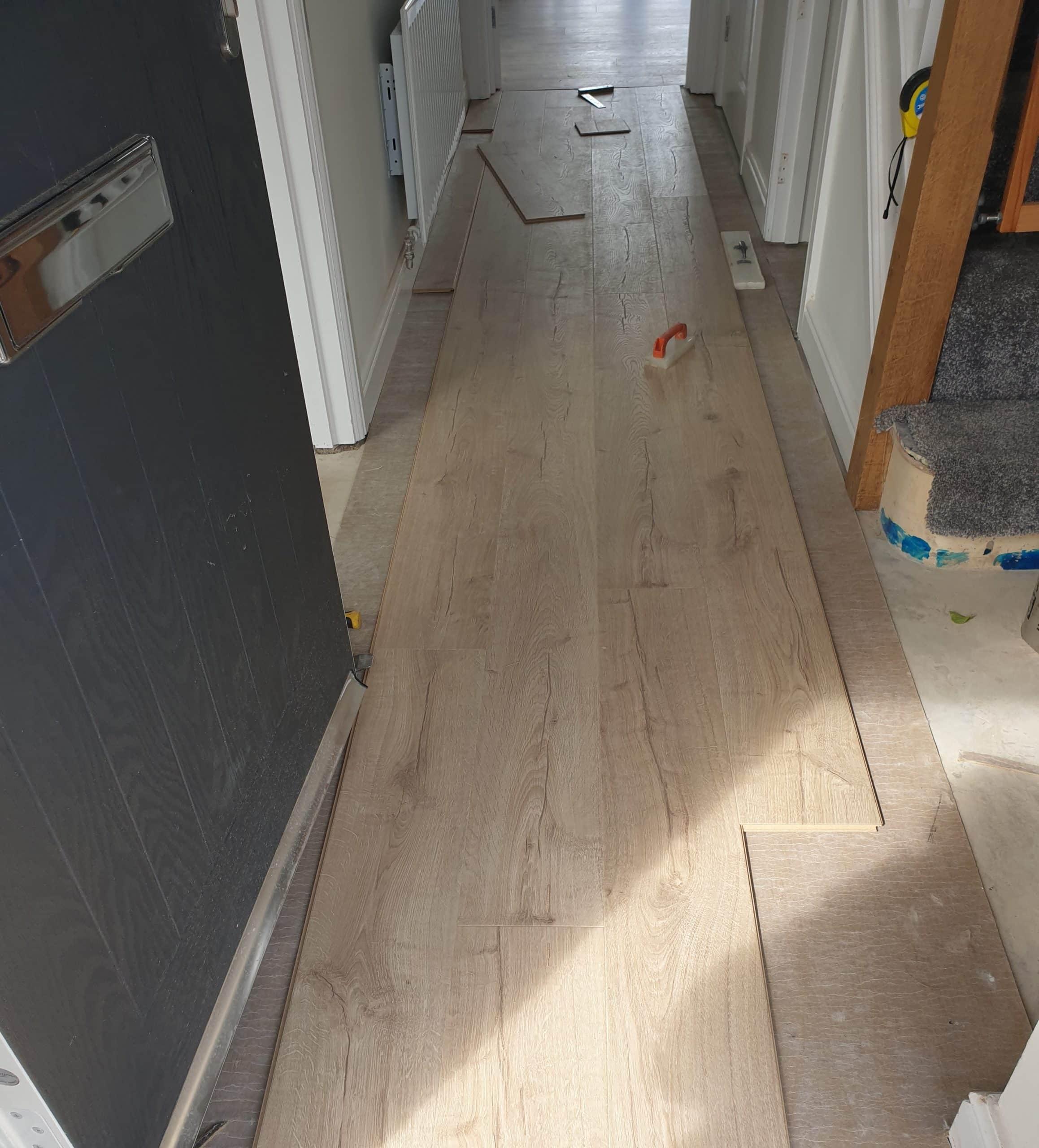 Quickstep laminate ideas hallway kitchen Wirral